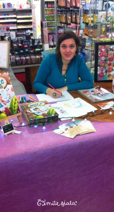 Dedicaces livres illutres albums jeunesse loisirs creatifs Emilie Fiala