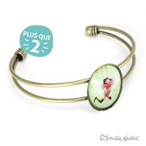 Bracelet simple Battement de Coeur laiton profil Emilie Fiala-2