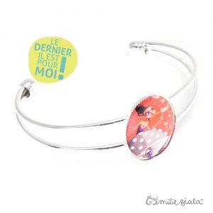 Bracelet simple Coeur Léger argenté profil Emilie Fiala-Dernier