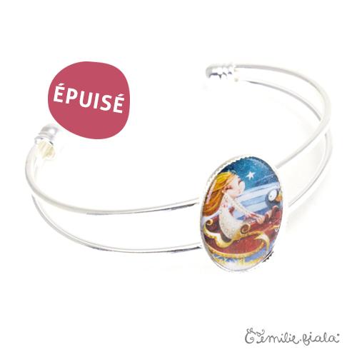 Bracelet simple Jeanne argenté profil Emilie Fiala-Epuisé