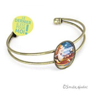 Bracelet simple Jeanne laiton profil Emilie Fiala-Dernier