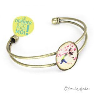 Bracelet simple L'Accroche-Coeurs laiton profil Emilie Fiala-Dernier