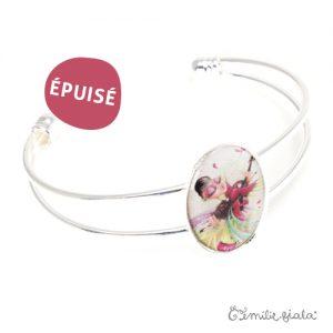 Bracelet simple L'Envol argenté profil Emilie Fiala-Epuisé