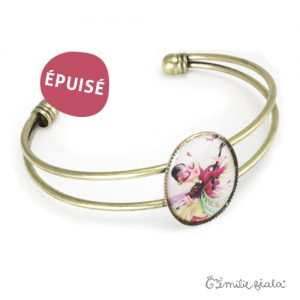 Bracelet simple L'Envol laiton profil Emilie Fiala-Epuisé