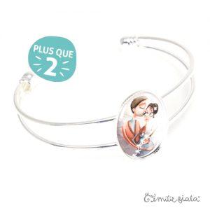 Bracelet simple La Farandole argenté profil Emilie Fiala-2