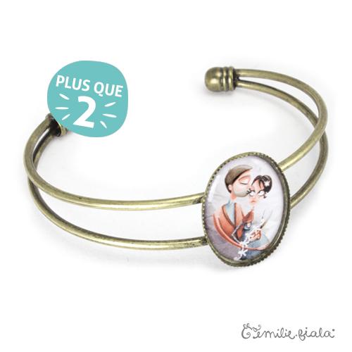 Bracelet simple La Farandole laiton profil Emilie Fiala-2