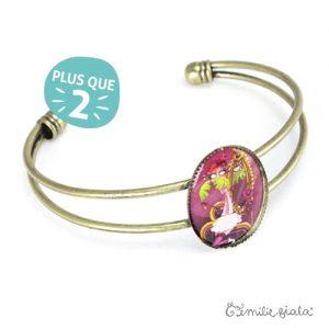 Bracelet simple La Flamant Rose laiton profil Emilie Fiala-2
