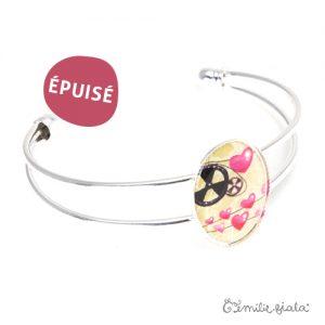 Bracelet simple La Mécanique du Coeur argenté profil Emilie Fiala-Epuisé