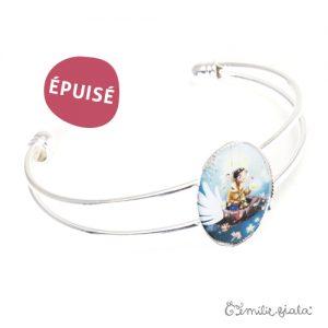 Bracelet simple Le Pêcheur d'Étoiles argenté profil Emilie Fiala-Epuisé