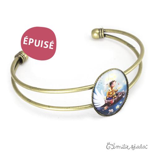 Bracelet simple Le Pêcheur d'Étoiles laiton profil Emilie Fiala-Epuisé