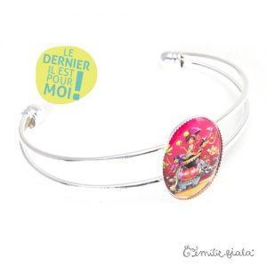 Bracelet simple Sur la Route des Indes argenté profil Emilie Fiala-Dernier