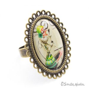 Grande bague Tea Time bronze antique Profil Emilie Fiala