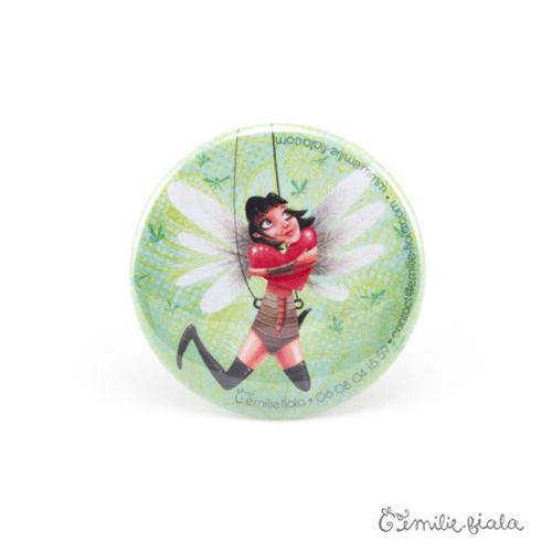 Petit badge Battement de Coeur face Emilie Fiala
