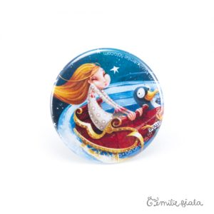 Petit badge Jeanne face Emilie Fiala