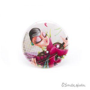 Petit badge L'Envol face Emilie Fiala