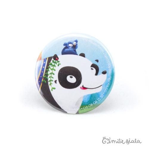 Petit badge Le Panda face Emilie Fiala