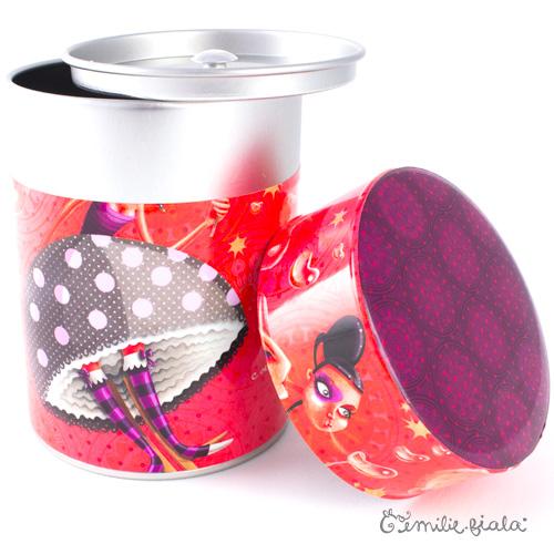 Boîte ronde Coeur Léger ouvert Emilie Fiala
