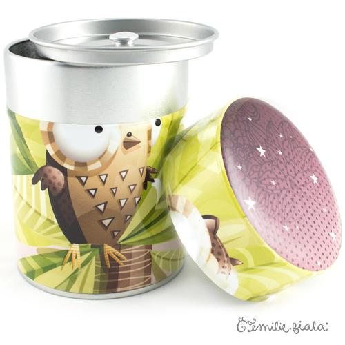 Boîte ronde La Chouette ouvert Emilie Fiala