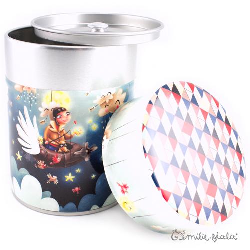 Boîte ronde Le Pêcheur d'Étoiles ouvert Emilie Fiala