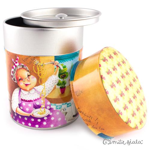 Boîte ronde Nonna ouvert Emilie Fiala