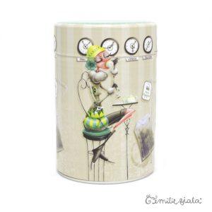 Boîte ronde Tea Time face Emilie Fiala