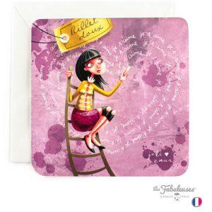 Carte-carree-Les-Fabuleuses-Billet-doux-joli-coeur-je-t-aime-amour