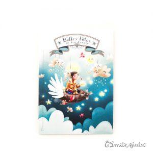 Carte double Belles Fêtes de Fin d'Année face Emilie Fiala
