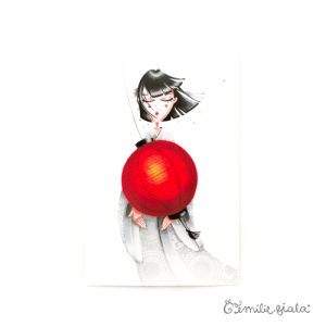 Carte postale Art For Japan face Emilie Fiala