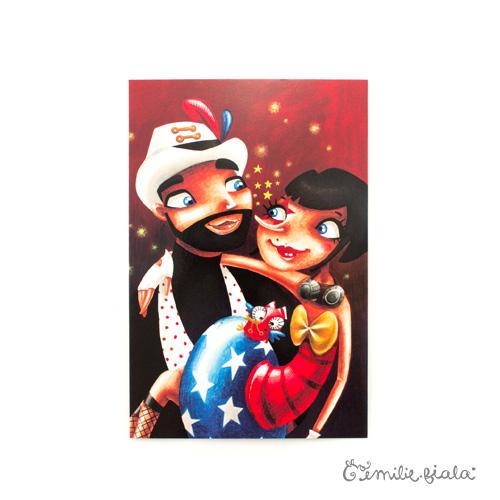 Carte postale Des Étoiles dans les Yeux face Emilie Fiala