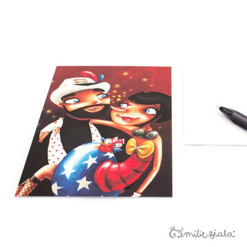 Carte postale Des Étoiles dans les Yeux profil Emilie Fiala