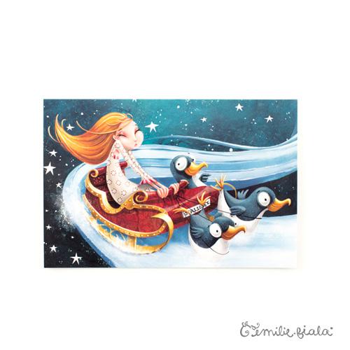 Carte postale Jeanne face Emilie Fiala