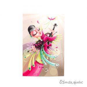 Carte postale L'Envol face Emilie Fiala