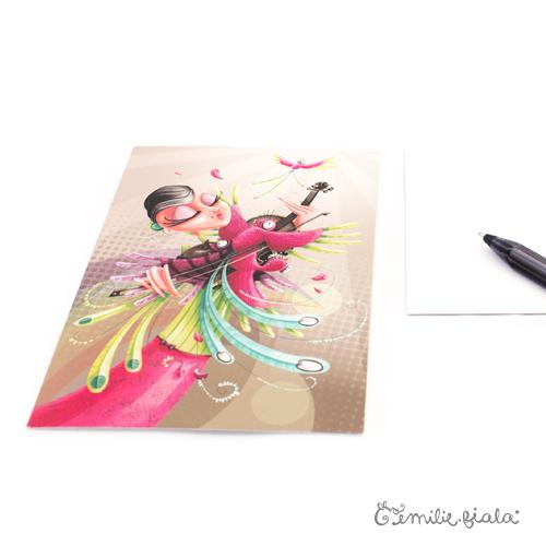 Carte postale L'Envol profil Emilie Fiala
