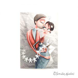 Carte postale La Farandole face Emilie Fiala
