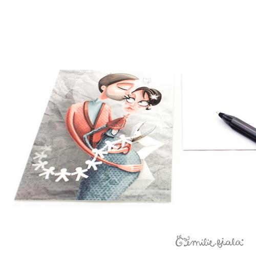 Carte postale La Farandole profil Emilie Fiala