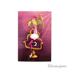 Carte postale La Flamant Rose face Emilie Fiala