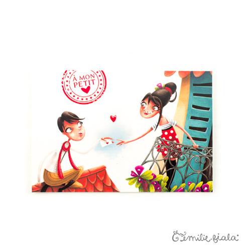 Carte postale La Lettre face Emilie Fiala