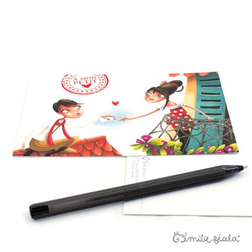Carte postale La Lettre profil Emilie Fiala