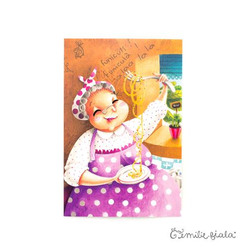 Carte postale Nonna face Emilie Fiala