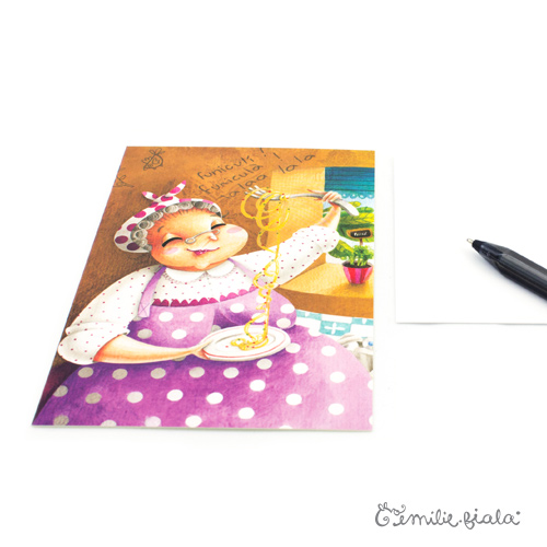 Carte postale Nonna profil Emilie Fiala