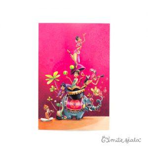 Carte postale Sur la Route des Indes face Emilie Fiala