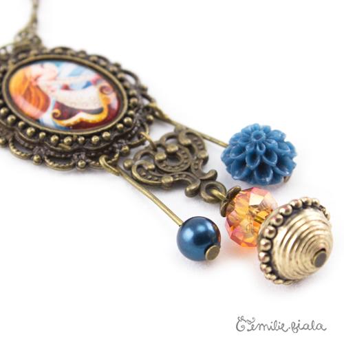 Collier créatif Boules de Neige perles Emilie Fiala