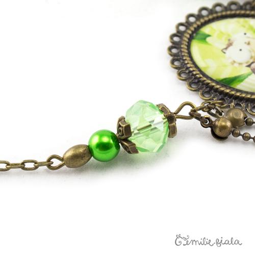 Collier créatif Les Yeux du Hibou perles Emilie Fiala