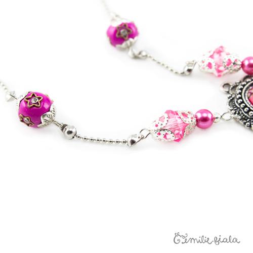 Collier créatif Trésor du Maharaja perles Emilie Fiala