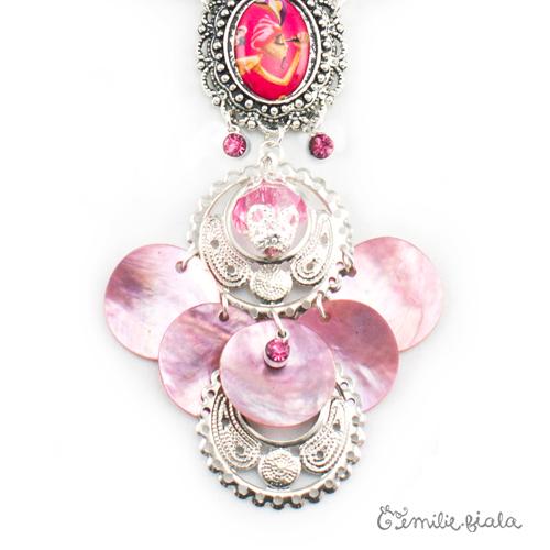 Collier créatif Trésor du Maharaja zoom Emilie Fiala