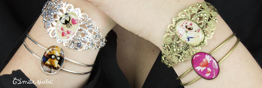 Emilie Fiala Créations Illustrées Bracelets