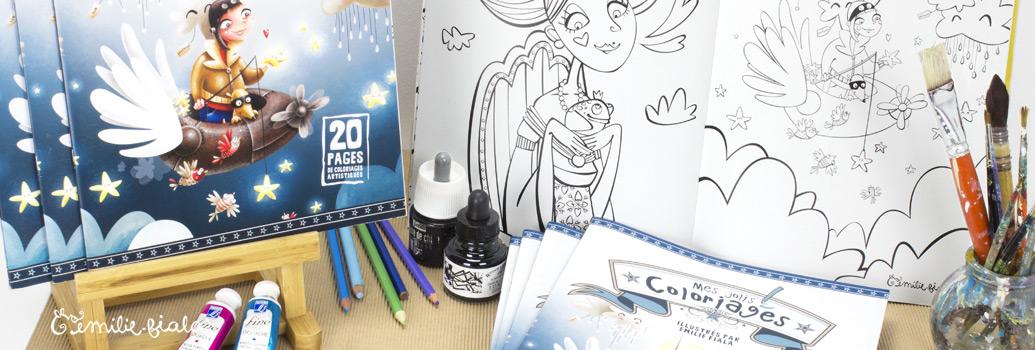 Emilie Fiala Créations Illustrées Cahier de coloriage