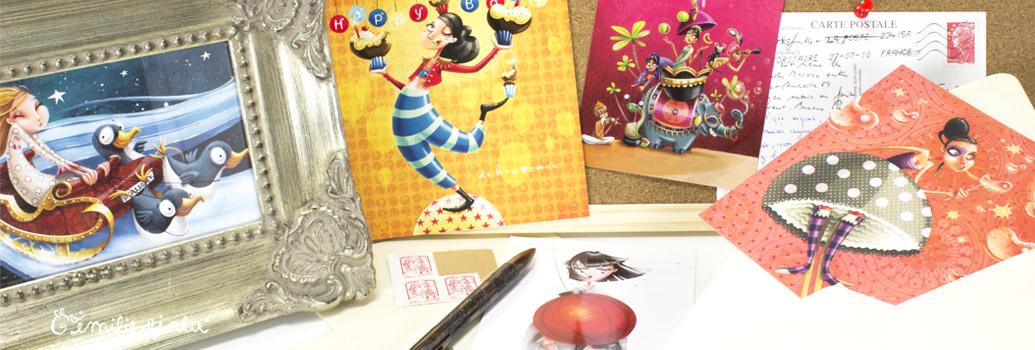 Emilie Fiala Créations Illustrées Cartes postales