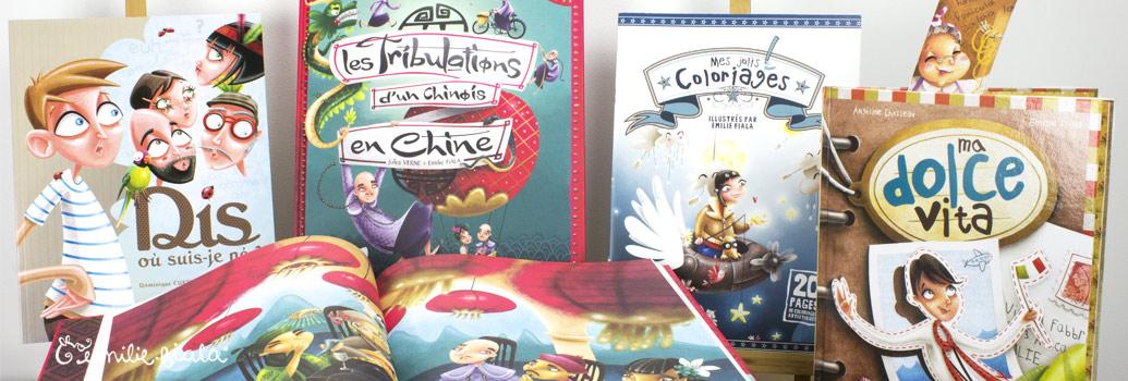 Emilie Fiala Créations Illustrées Livres