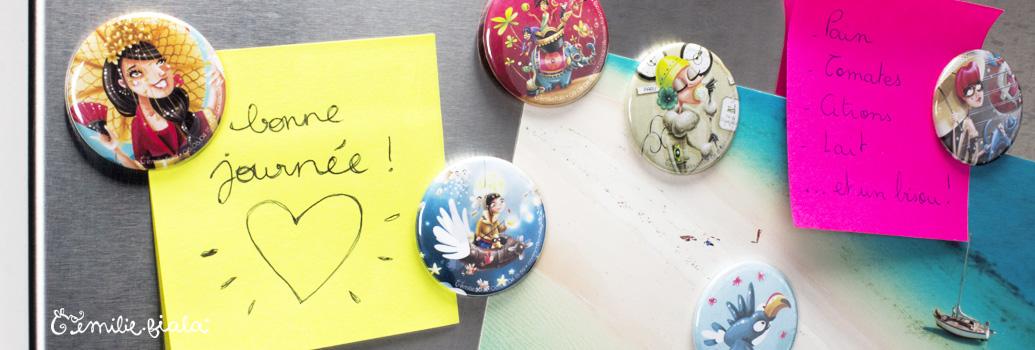 Emilie Fiala Créations Illustrées Magnets